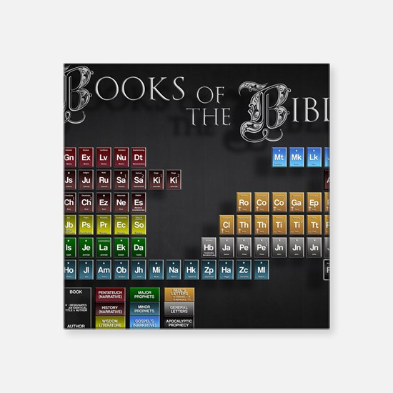 "books of the bible 14x10 Square Sticker 3"" x 3"""