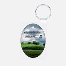 IRISH-BLESSING-OVAL-ORNAME Aluminum Photo Keychain