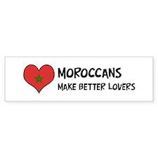 Morocco - better lovers Bumper Bumper Sticker
