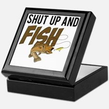 shut up and fish Keepsake Box