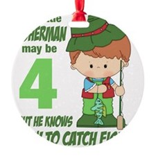 four year old fisherman Ornament