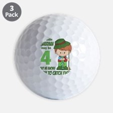 four year old fisherman Golf Ball