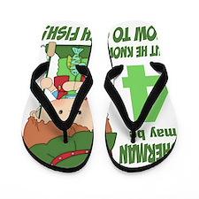 four year old fisherman Flip Flops
