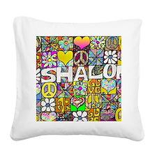 Retro60sShalom Square Canvas Pillow