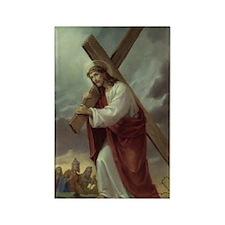 jesus_carrying_cross Rectangle Magnet