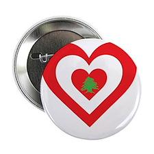 """Lebanon Heart 2.25"""" Button"""