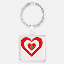 Lebanon Heart Square Keychain