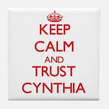 Keep Calm and TRUST Cynthia Tile Coaster