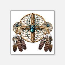 "Labradorite Spider Dreamcat Square Sticker 3"" x 3"""