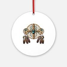 Labradorite Spider Dreamcatcher Round Ornament