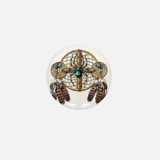Labradorite Spider Dreamcatcher Mini Button