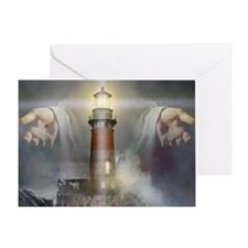 Jesus_Lighthouse Greeting Card