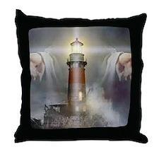 Jesus_Lighthouse Throw Pillow