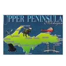 U.P. Vintage Postcards (Package of 8)