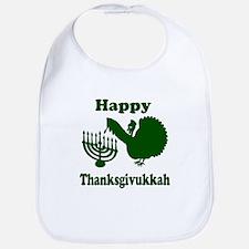 Happy Thanksukkah 3 green Bib