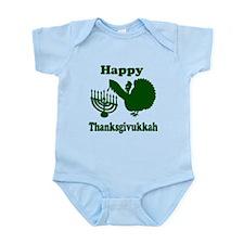 Happy Thanksukkah 3 green Body Suit