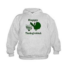 Happy Thanksukkah 3 green Hoodie