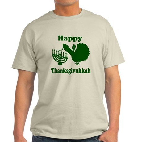 Happy Thanksukkah 3 green T-Shirt