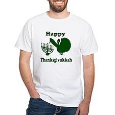 Happy Thanksukkah 3 green T-Shirt