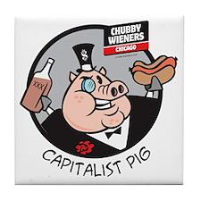 Capitalist Pig Tile Coaster