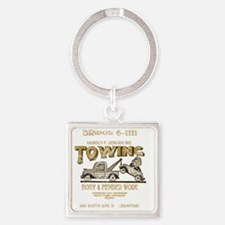 Harold F. Bender Towing_for Black  Square Keychain