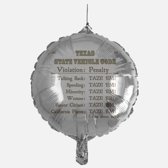 TexasVehicleCode_10x10 Balloon