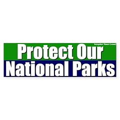 Protect National Parks Bumper Bumper Sticker