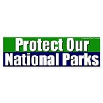 Protect National Parks Bumper Sticker