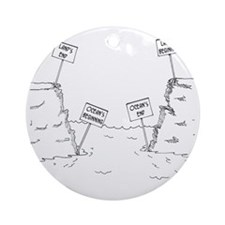 1184_ocean_cartoon Round Ornament