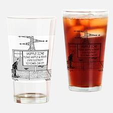 1738_electric_cartoon Drinking Glass