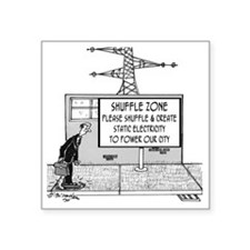 "1738_electric_cartoon Square Sticker 3"" x 3"""