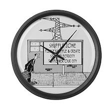 1738_electric_cartoon Large Wall Clock