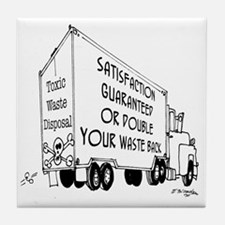 5769_truck_cartoon Tile Coaster