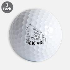 5769_truck_cartoon Golf Ball