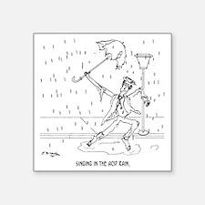 "0644_acid_rain_cartoon Square Sticker 3"" x 3"""