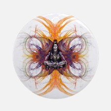 shiva on fractals Round Ornament
