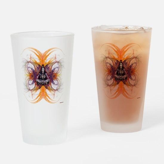shiva on fractals Drinking Glass