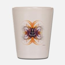 shiva on fractals Shot Glass