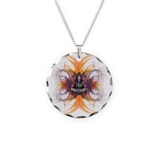shiva on fractals Necklace Circle Charm