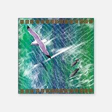 "IRISH-SEA-SHOWER-CURTAIN Square Sticker 3"" x 3"""