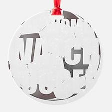 Real Women Soccer White Ornament