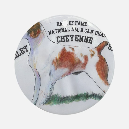 National Dual Champion Round Ornament