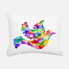 Dove of Hearts Rectangular Canvas Pillow