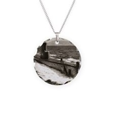 bream ssk framed panel print Necklace Circle Charm