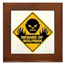Beware_Wolfman Framed Tile