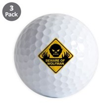 Beware_Wolfman Golf Ball