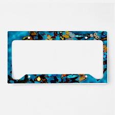 Butterflies Blue License Plate Holder