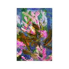 441 Monet Detail Rectangle Magnet