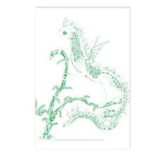 Green Salamander Postcards (Package of 8)