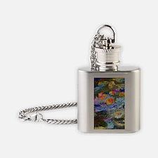 443 Monet LilyPond Flask Necklace
